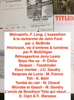 12 Cartes Postales : Films Cinéma & Livres Sur Réalisateurs  (voir Les Titres Sur Photo) (Lot A4) - Merchandising