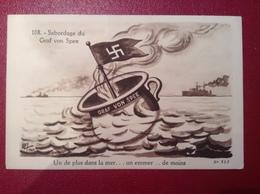 CP SATIRIQUE GUERRE 39-45 Illustré Par LALLY -Sabordage Du Graf Von Spee - War 1939-45