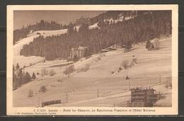 Carte P ( Suisse / Leysin / Hôtel Les Chamois / Le Sanatorium Et Hôtel Bellevue ) - VD Vaud