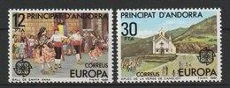 MiNr. 138 - 139 Andorra Spanische Post / 1981, 7. Mai. Europa: Folklore. - Spanisch Andorra
