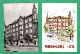 Danemark Danmark Copenhague Kobenhavn Kopenhagen Hotel Frederiksberg  Lot 2 Cartes Postales ( 2 Post Cards ) - Danemark