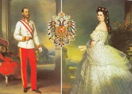 Austria Kaiser Franz Josef I And Kaiserin Elisabeth Sissy - Familles Royales