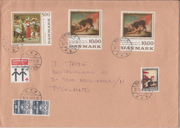 Postal History Cover: Denmark 2 Covers With Full Sets - Art