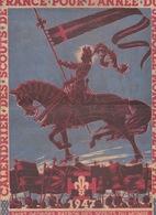 1947 - CALENDRIER DES SCOUTS DE FRANCE POUR L'ANNÉE DU JAMBORÉE MONDIAL DE LA PAIX - ST GEORGES PATRON  SCOUT - Scoutisme