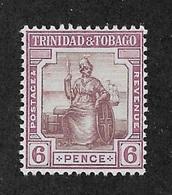 Trinidad & Tobago 1913,6p Scott # 6,XF Mint VVLH*OG ,Nice Color !! (SP-3) - Trinidad & Tobago (...-1961)