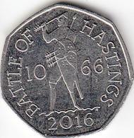Great Britain UK 50p Coin Battle Of Hastings 2016 (Small Format) Circulated - 1971-… : Monedas Decimales
