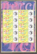 France Neuf ** Bloc Feuillet De 2001 Comprenant 10 Vignettes Personnalisées N° 3433 Cote 50€ Merci Logo Ceres - France