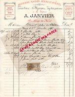 79- NIORT - RARE FACTURE A. JANVIER-ARNAULT AVENEL-TEINTURERIE TEINTURES NETTOYAGES VAPEUR- 23 RUE BASSE- 1892 - France