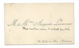 CARTE De VISITE.. M Et Mme Auguste LEVASSEUR à SAINT AUBIN Des BOIS (CALVADOS 14) - Cartes De Visite