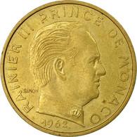 Monnaie, Monaco, Rainier III, 20 Centimes, 1962, TB+, Aluminum-Bronze - Monaco