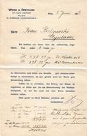 Austria Weiss & Dreykurs Wien Invoice Document 1906 Judaica - Autriche
