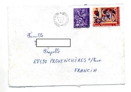 Lettre Flamme Muette Sur Saint - Marcophilie - EMA (Empreintes Machines)