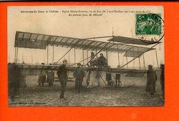 AVIATION - Aérodrome Du Camp De Châlons - Biplan Henry Farman - Au Premier Plan, M. Effimoff - ....-1914: Précurseurs