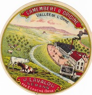 ETIQUETTE FROMAGE  CAMEMBERT - J. LAVALOU -   Fab En NORMANDIE  61 - Cheese