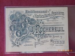 CPA - Dinan - Carte Publicitaire - J. Rochereuil, 9, Rue De Brest - Dinan