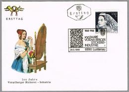 100 Años INDUSTRIA DEL BORDADO De Vorarlsberger - EMBROIDERY INDUSTRY. SPD/FDC Lustenau 1968 - Textiles