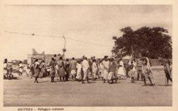[DC7716] CPA - ERITREA - VILLLAGGIO INDIGENO - ANIMATA - Non Viaggiata - Old Postcard - Eritrea
