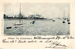 [DC7723] CPA - DANIMARCA - HILSEN FRA KOBENHAVN - Viaggiata 1900 - Old Postcard - Danimarca