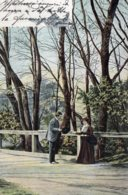 [DC7753] CPA - INCONTRO NEL BOSCO - Viaggiata 1903 - Old Postcard - Cartoline