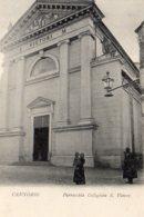[DC7759] CPA - CANNOBIO - PARROCCHIA COLLEGIATA S. VITTORE - ANIMATA - Non Viaggiata Primi '900 - Old Postcard - Verbania