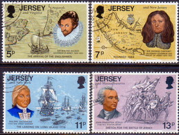 """JERSEY 1976 SG #160-63 Compl.set Used """"Links With America"""" - Jersey"""