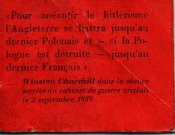 MINI LIVRE PROPAGANDE PRO ALLEMAGNE ANTI ANGLETERRE REICH FUHRER - 1939-45