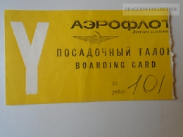 ZA101.3  Airplane -Aeroflot - Russia Moscow - Boarding Card - Transportation Tickets