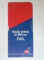 ZA101.4  Airplane - TWA Airline  Ticket Holder - Titres De Transport