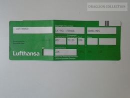ZA101.5  Airplane - LUFTHANSA Airline  - Boarding Pass  LH 44í - Titres De Transport