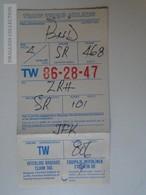 ZA101.10  Airplane -  Airline  - TWA - JFK Airport New York - Zürich - Budapest - SR468 - SR101 - TW806 - Titres De Transport