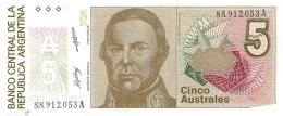 BILLET  ARGENTINE   CINCO AUSTRALES - Argentine