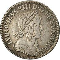 Monnaie, France, Louis XIII, 1/12 Écu, 1643, Paris, Rose, KM:132.1 - 1610-1643 Louis XIII Le Juste