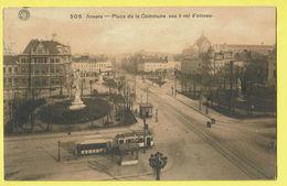 * Antwerpen - Anvers - Antwerp * (G. Hermans, Nr 306) Place De La Commune, Vue à Vol D'oiseau, Tram, Vicinal, Rare - Antwerpen