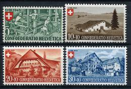 42230) SCHWEIZ # 460-63 Postfrisch Aus 1945, 19.- € - Switzerland