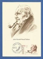 Kirgisistan 2017  Stamp-World  Nr. 1148 , Persönlichkeiten - John Ronald Reuel Tolkien - Maxi Card - Premier Jour  31.12 - Kirghizistan
