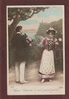 Cpa - Carte  - LARCIN D'AMOUR N'EST POINT PECHE   -  Carte écrite  - Voir Les 2 Scannes - Couples