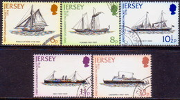 JERSEY 1978 SG #197-201 Compl.set Used Mail Packet Service - Jersey