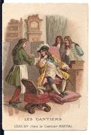 """Chromos Chicorée Extra Leroux Orchies Métiers """"Les Gantiers Louis XIV Chez Le Gantier Martial"""" - Té & Café"""