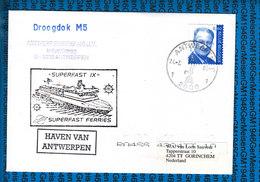 Belgium Cover Ship / Superfast IX - Liner Cards