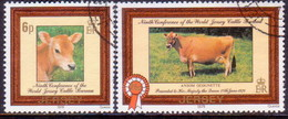 JERSEY 1979 SG #202-203 Compl.set Used Jersey Cattle - Jersey