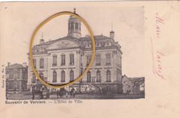"""VERVIERS ACP  """"L'Hôtel De Ville"""" Circulée En 1902  Voir Scans - Verviers"""
