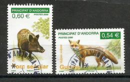 Le Sanglier & Le Renard Roux.  Deux Timbres Oblitérés  1 ère Qualité - Used Stamps