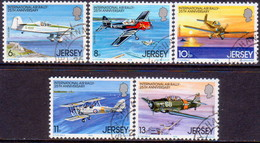 JERSEY 1979 SG #208-12 Compl.set Used International Air Rally - Jersey