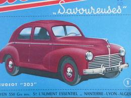 AUTOMOBILE / PEUGEOT 203 N° 1 / BISCOTTES HEUDEBERT - Blotters