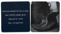 Rosewood Mansion On Turtle Creek, Dallas, U.S.A., Unsued Contactless Hotel Room Key Card, Rosewood-31 NEW SQUARE DESIGN - Hotel Keycards