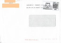 Coïncidence : Montimbrenligne 1.82€ Balance De Justice Sur Enveloppe D'un Avocat + Toshiba - France
