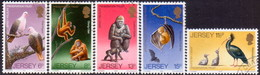 JERSEY 1979 SG #217-21 Compl.set Used Wildlife Preservation Trust (3rd Series) - Jersey