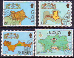 JERSEY 1980 SG #222-25 Compl.set Used Fortresses - Jersey