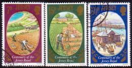 JERSEY 1980 SG #230-32 Compl.set Used Jersey Royal Potato - Jersey