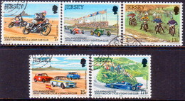 JERSEY 1980 SG #233-37 Compl.set Used Motor-Cycle Ans Light-Car Club - Jersey